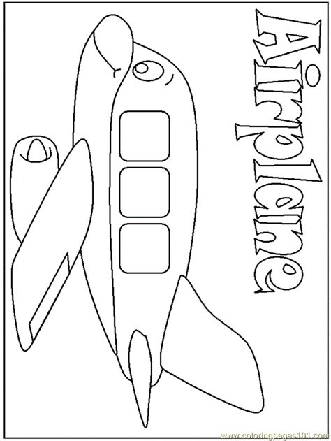 a is for airplane coloring page kids coloring page gallery