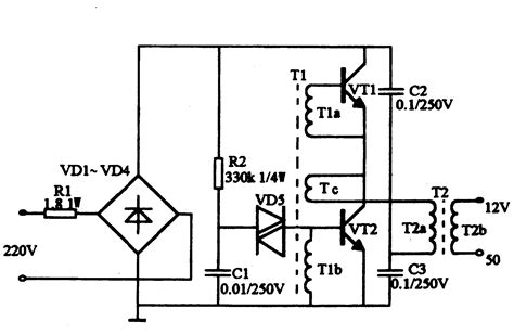 electronic transformer circuit schematic get free image