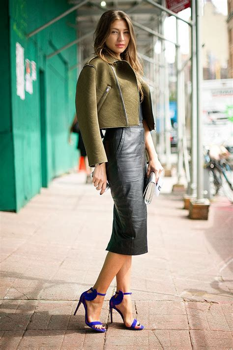 the wardrobe curator leather skirts and day to
