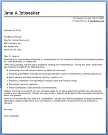 Temporary Worker Cover Letter by Administrative Assistant Cover Letter Temp Resume Downloads
