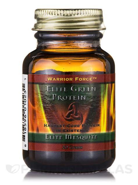 protein 20 grams warrior elite green protein elite mesquite powder