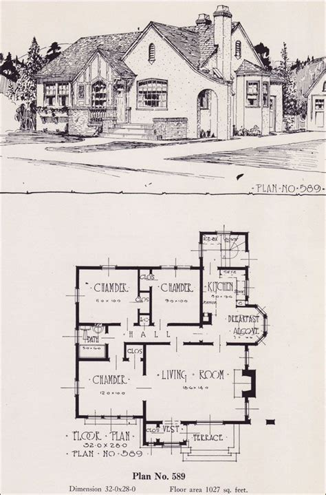 tudor house floor plans design no 589 1926 portland homes plan book by universal