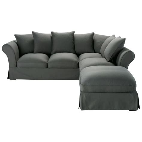 6 Seater Corner Sofa by 6 Seater Cotton Corner Sofa Bed In Slate Grey Roma