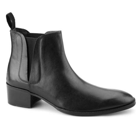mens chelsea boots cuban heel gucinari george mens cuban heel chelsea boots black shuperb