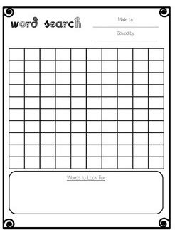printable word search blank 28 images of word search classroom game template