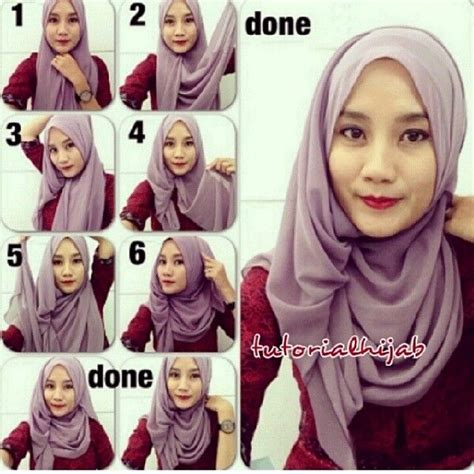 tutorial hijab simple glamour 17 best images about tutorial hijab style on pinterest