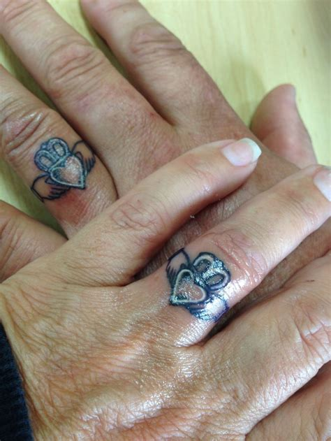 wedding ring name tattoo designs the claddagh ring f 225 inne chladaigh is a