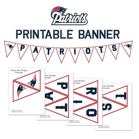 printable football banner patriots football and other on pinterest