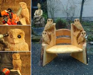 Outdoor Craft Ideas Gardens - owl wood carving by andy burgess home design garden amp architecture blog magazine