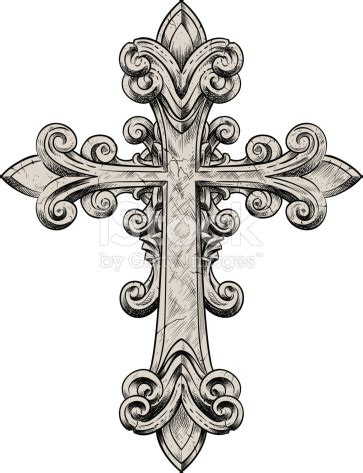 tattoo cross vector vector illustration of a stone cross stone