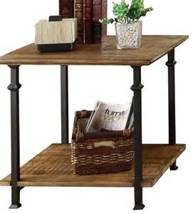 homelegance factory rectangular end table with wrought