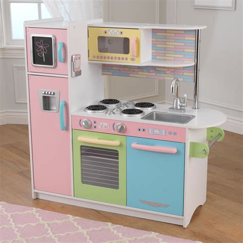 pastel kitchen kidkraft uptown pastel kitchen 53257 play kitchens at