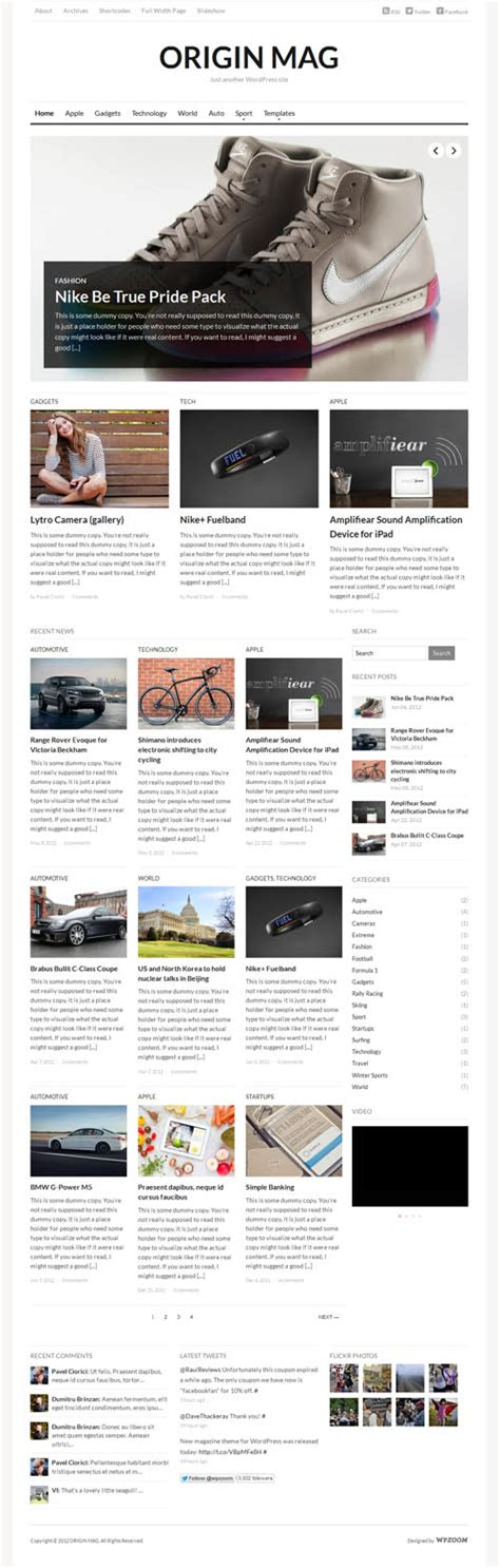 theme wordpress origin 40 best responsive magazine wordpress themes 2018