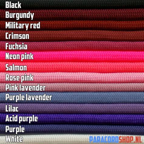 Welke Kleuren Maken Rood by Keuzehulp Welke Kleuren En Typen Paracord Heb Ik Nodig