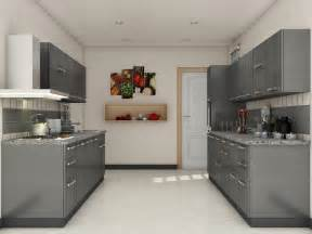 Modular Kitchen Designs Grey Modular Kitchen Designs Parallel Shaped Modular