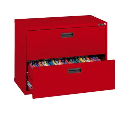 2 drawer file cabinet 27 height sandusky 400 red steel lateral file cabinet with