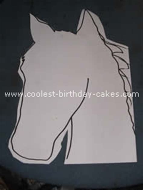 pony cake template coolest cake photos and ideas