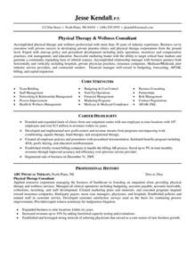 Sle Physical Therapy Resume by Physiotherapist Cv Template 1 Sle Resume Clinical Psychologist Resume Exles Near