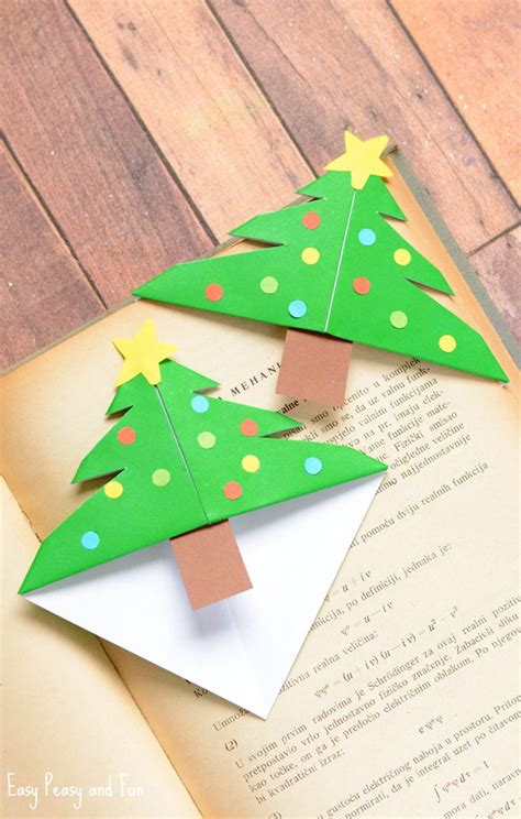 printable christmas origami bookmarks christmas tree corner bookmarks origami for kids