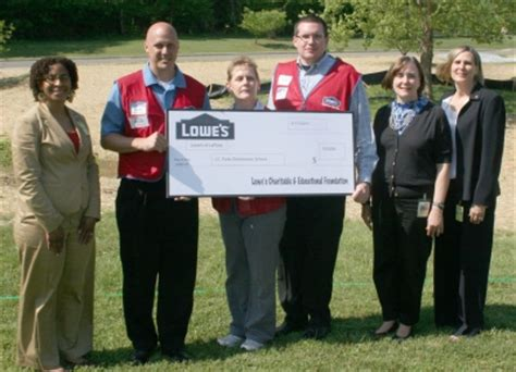 lowes laplata j c parks elementary school receives 100 000 grant from