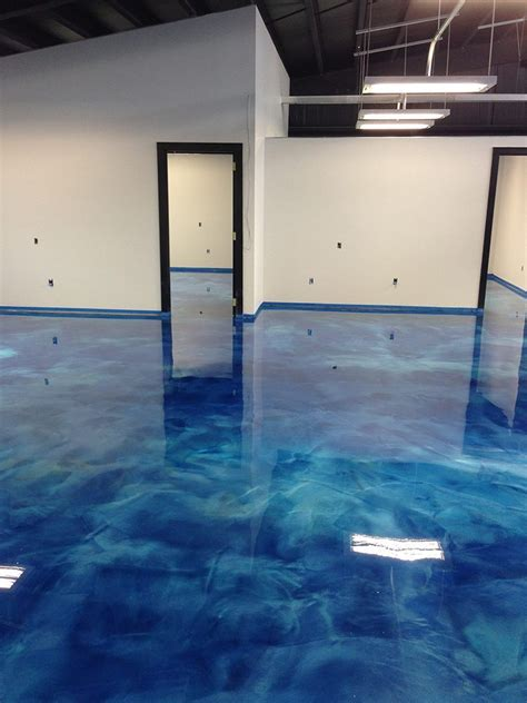 Blue Floor by A 3d Epoxy Metallic Floor Step By Step Floor Epoxy