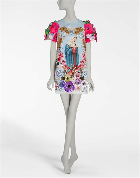 Organza Silk Ori dolce gabbana printed silk organza dress with embroidery in white lyst