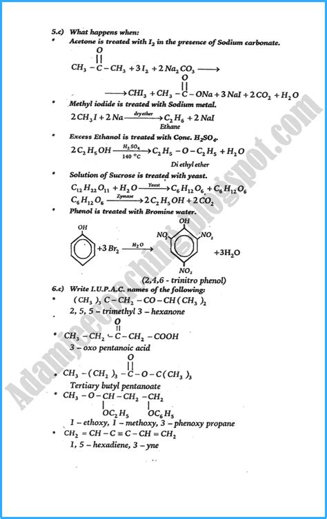 Ub Ee Mba Curriculum by Adamjee Coaching Xii Chemistry Numericals Solve Past Year