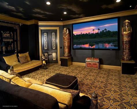 theater themed home decor with your designs this themed home theater is both and functional by