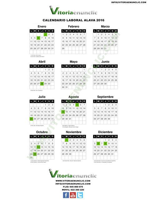 Calendario Laboral 2016 Calendario Laboral 2016 Vitoria Gasteiz 193 Lava
