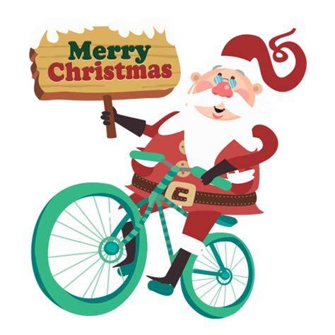 imagenes de santa claus en bicicleta pap 225 noel que monta en bicicleta descargar png svg