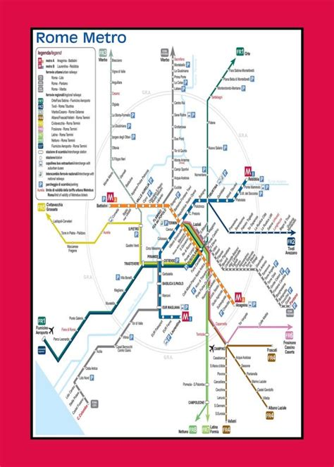 rome metro map pin by big easy architect on maps transportation guides