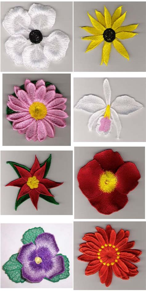 3d Flower Embroidery Designs