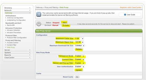 Harga Clearos berbagi dengan teman setting proxy server di clear os