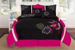 Pink And Black Duvet Set Pink And Black Print Comforter Bedding Sets For