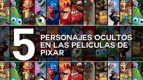 film disney pixar elenco 5 personajes ocultos en las peliculas de pixar youtube