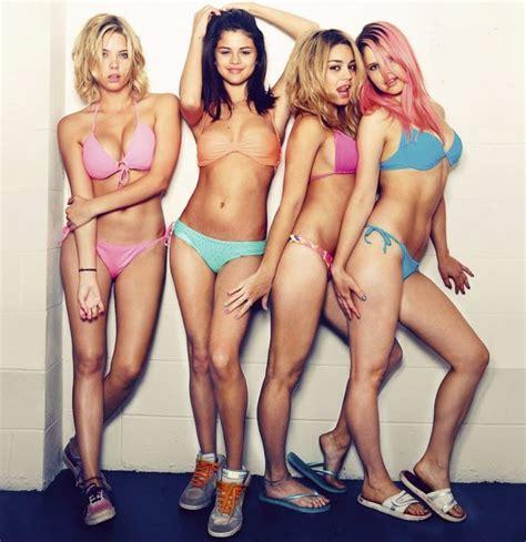 Selena Gomez Strips Off In Underwear For Spring Breakers Poster Mirror Online