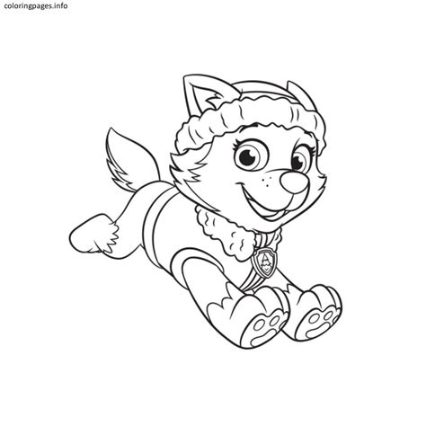 paw patrol coloring pages full size paw patrol everest coloring pages free printable paw