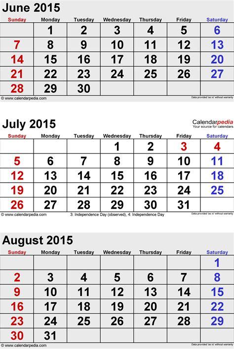 calendar layout august 2015 august 2015 calendars for word excel pdf
