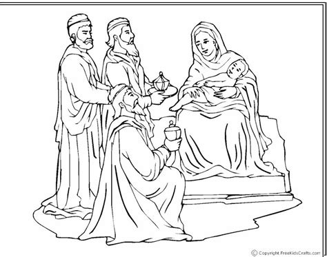 nativity coloring pages wisemen at the nativity coloring page