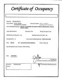 Certification Letter For Occupancy certificate occupancy