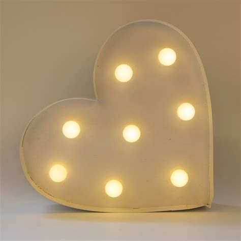 Heart Led Light Wall Decoration White Wall Decoration Lights