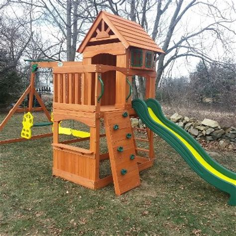 atlantis swing set backyard discovery atlantis wooden swingset installer
