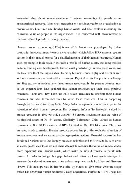 Mba In Accounting In India by Human Resources Projects Thesis Dissertation Human
