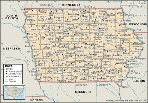 iowa maps state and county maps of iowa