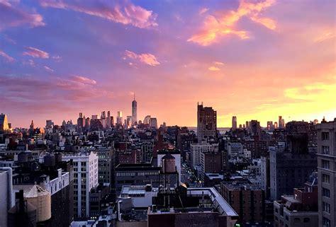 manhattan skyline no filter needed watch nyc glow against an otherworldly