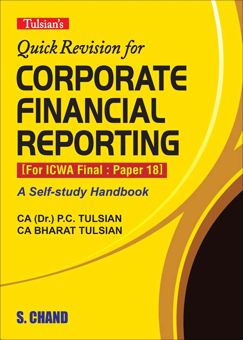 financial reporting book tulsian s revision for corporate financial by ca