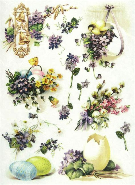 Easter Decoupage - details about rice paper for decoupage scrapbooking sheets