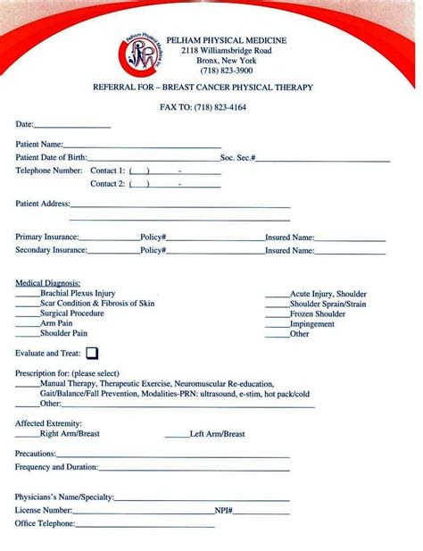 Dr Referral Form For Physical Therapy Mba by Referral Pads