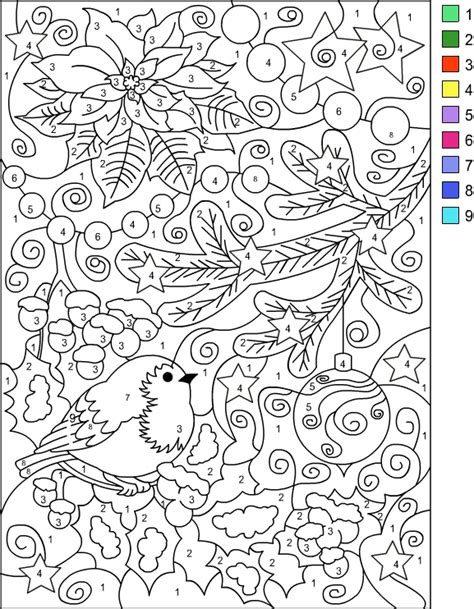 free coloring pages of color by number adult nicole s free coloring pages color by number winter