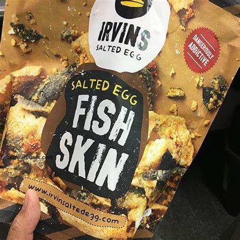 Irvin Salted Egg Fish Skin Enak 105gr jual beli snack irvins salted egg fish skin 250g baru